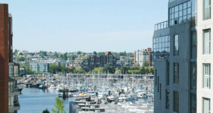 Partial views of the marina from some suites