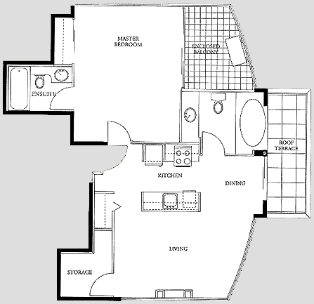 Vancouver Penthouse Suite Rental Accommodations 910