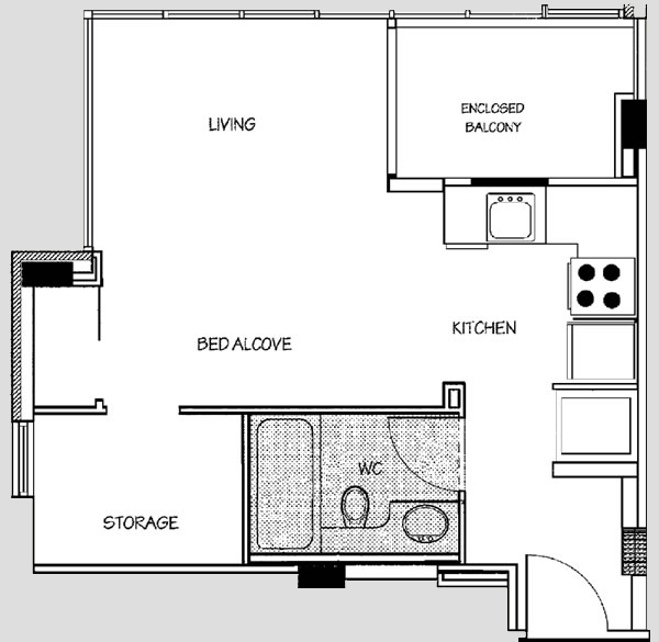 Bachelor Suite Floor Plan