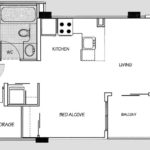910 Beach Apartment Hotel Junior Suite With Balcony Floor Plan