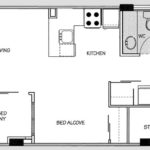 910 Beach Apartment Hotel Junior Suite Without Balcony Floor Plan