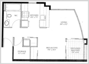 Premier Junior Suites Floor Plan
